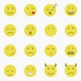 Set Emoticons Satz von Emoji Satz des Avataras Stockbild