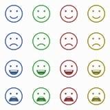 Set Emoticons Satz von Emoji Satz des Avataras Lizenzfreies Stockfoto