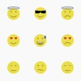 Set Emoticons Satz von Emoji Satz des Avataras Stockfotos