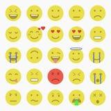 Set Emoticons Satz von Emoji Satz des Avataras Lizenzfreie Stockfotografie