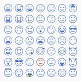 Set Emoticons Satz von Emoji Satz des Avataras Stockfotografie