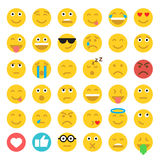 Set of Emoticons. Set of Emoji. Flat style illustrations Royalty Free Stock Image