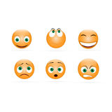 Set of emoticons Royalty Free Stock Image