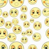 Set emoticons smutni, rodzaj bezszwowy również zwrócić corel ilustracji wektora Obraz Stock