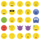 Set of emoticons Royalty Free Stock Photo