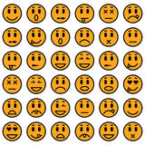 Set of Emoticons Stock Images