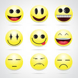 Set of emoticons. Vector illustration set of emoticons Stock Photo
