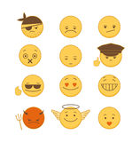Set of Emoticons. Set of  emoticons  on white background Stock Image