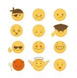 Set of Emoticons Stock Image