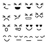Set of emotion icon Stock Images