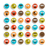 Set of emotion smiling faces icons Royalty Free Stock Image