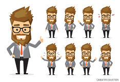 Set of emotions for business man. Stock Image
