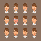 Set Emotions Business Woman Royalty Free Stock Photos
