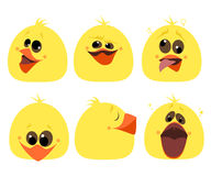 Set of emotions chicken Different characters Cartoon Vector Royalty Free Stock Images