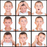 Set of emotions child Royalty Free Stock Images