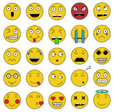 Set of emotions set of emoji icons smile yellow icon Stock Photography
