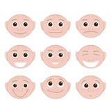Set of Emotions Stock Photography