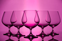 Brandy glasses Royalty Free Stock Photos
