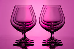 Brandy glasses Stock Image