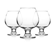 Set of empty cognac glass Royalty Free Stock Photo