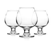 Set of empty cognac glass Royalty Free Stock Photo