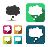 Set of empty color and white speech bubbles. Flat. Vector Royalty Free Stock Photography