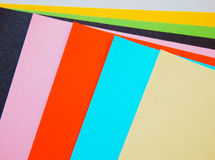 Set of empty colorful papers Stock Photo