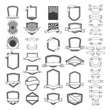 Set of empty emblems and labels templates. Design elements for l Royalty Free Stock Image