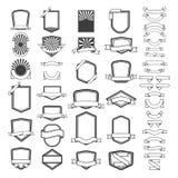 Set of empty emblems and labels templates. Design elements for l. Ogo, label, emblem, sign, brand mark. Vector illustration Royalty Free Stock Image