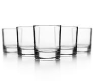 Set of empty glass for whiskey Royalty Free Stock Photography