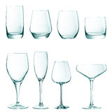 Set of empty glasses Stock Image