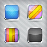 Set of empty icons Stock Photo