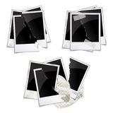 Set of empty photo frames Stock Image