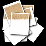 Set empty photos with desert sand isolated Stock Photography