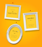 Set of empty picture frames stock illustration