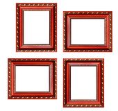 Set of empty picture frames with free space inside, isolated on. White royalty free stock photos