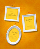 Set of empty picture frames for your own image or text. Stock Image