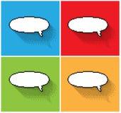 Set of empty pixel text bubbles Royalty Free Stock Photos