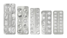 Set of empty plastic blister package Royalty Free Stock Photography