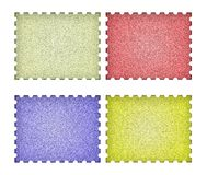 Set of empty post stamps on a white Stock Photo