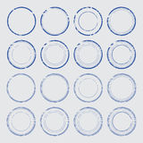 Set of empty round stamps. Eps10 royalty free illustration