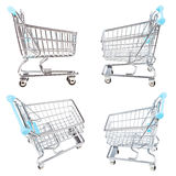 Set from empty shopping carts isolated Stock Photos