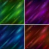 Set empty space seamless backgrounds Stock Image