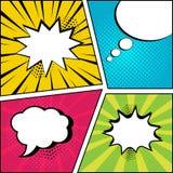 Set of empty speech bubbles in pop art style. Vector illustration. Set of empty speech bubbles on comic bright background in pop art style. Vector illustration vector illustration