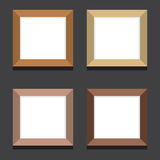 Set Of Empty Square Picture Frames On Black Background Stock Photo