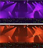 Set of empty stage Rock concert Stock Photos