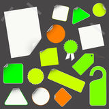 Set of empty stickers, design elements Stock Photography