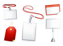 Set of empty tags. Computer illustration, isolated on the white Stock Photo