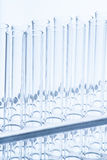 Set of empty test lab tubes on stand Stock Photography