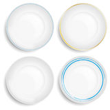 Set of empty white plate Stock Photo